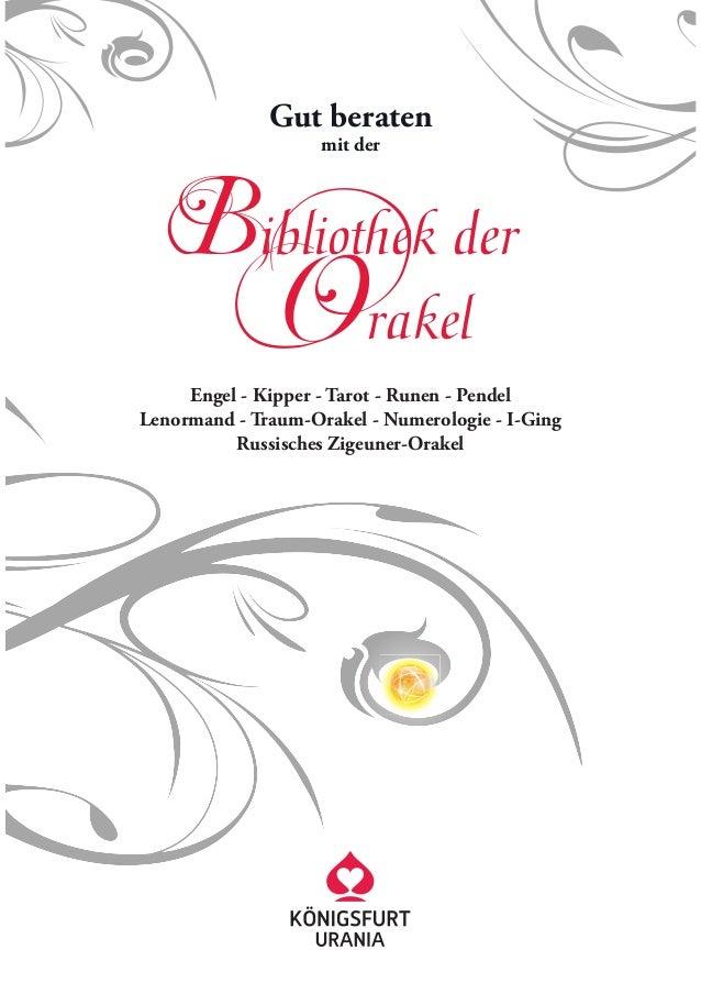 Bibliothek der              Gut beraten                    mit der                Orakel     Engel - Kipper - Tarot - Rune...