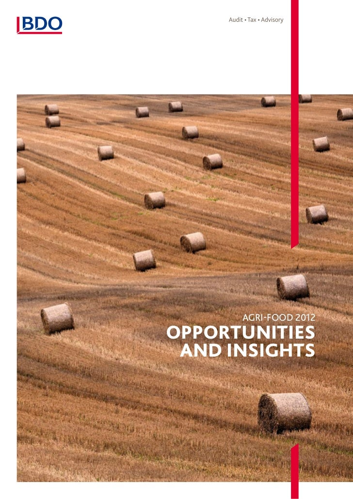 Agri-food 2012Opportunities and Insights