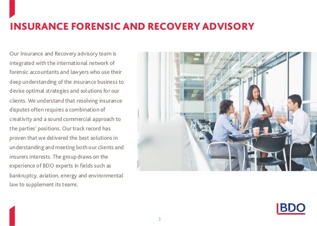 BDO Insurance Forensic and Recovery Advisory