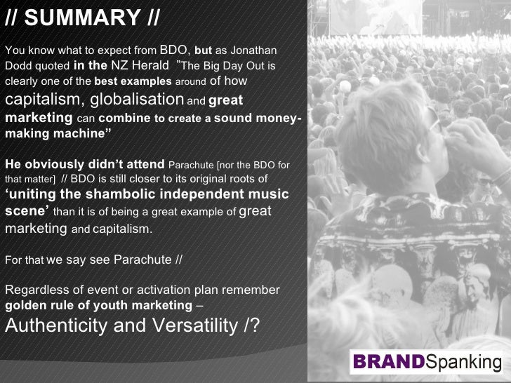 """// SUMMARY // You know what to expect from   BDO,  but  as Jonathan Dodd quoted   in the  NZ Herald  """" The Big Day Out is ..."""