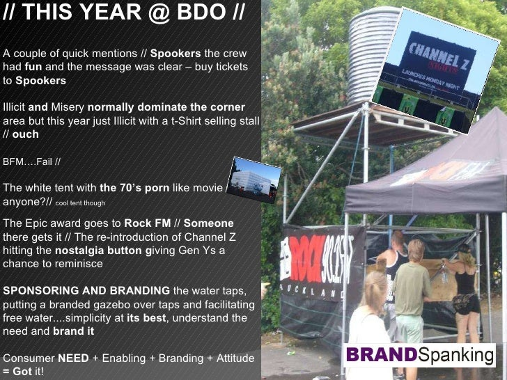 // THIS YEAR @ BDO // A couple of quick mentions //  Spookers  the crew had  fun  and the message was clear – buy tickets ...