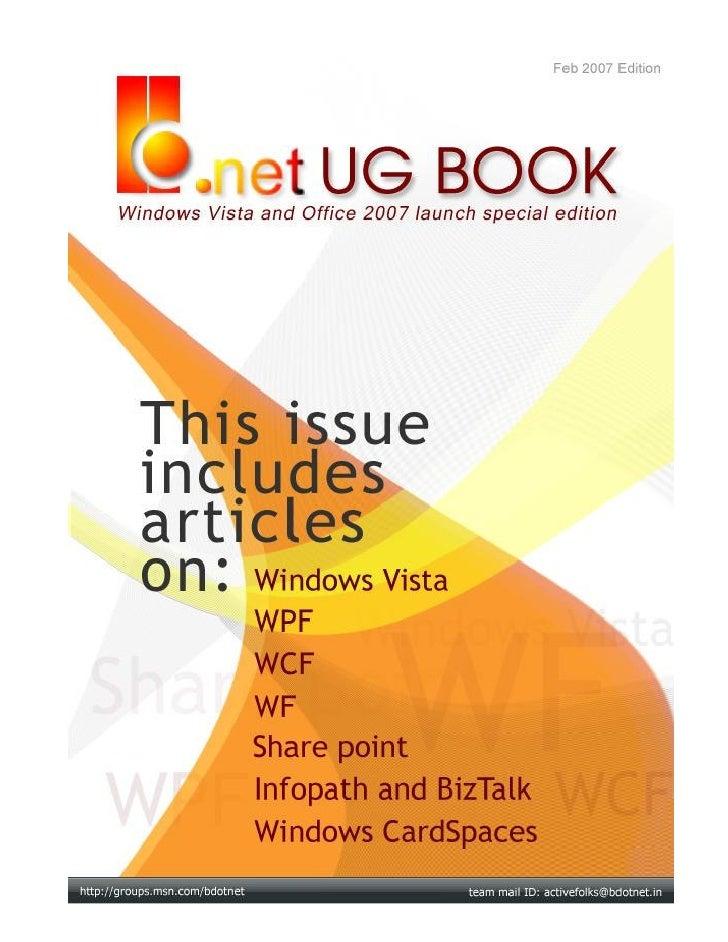 B.NET UG BOOK   http://groups.msn.com/bdotnet     FEB 2007                        PAGE NO 1