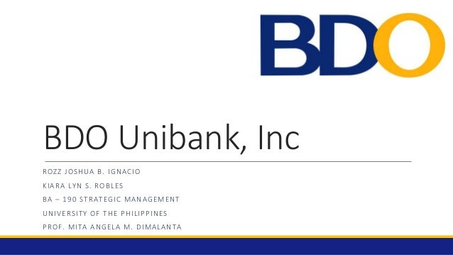 swot analysis of bdo unibank Assess your business' strengths, weaknesses, opportunities and threats to assist your business planning.