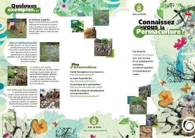 Qu 39 est ce que la permaculture plaquette brin de paille - Qu est ce que la permaculture ...