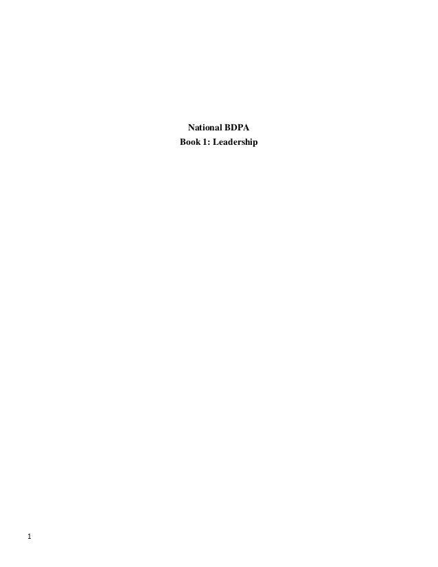 1National BDPABook 1: Leadership