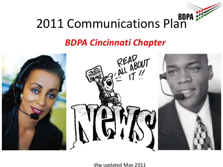 2011 Communications Plan<br />BDPA Cincinnati Chapter<br />dlw updated May 2011<br />