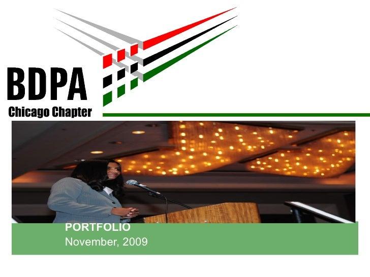 PORTFOLIO November, 2009 Chicago Chapter