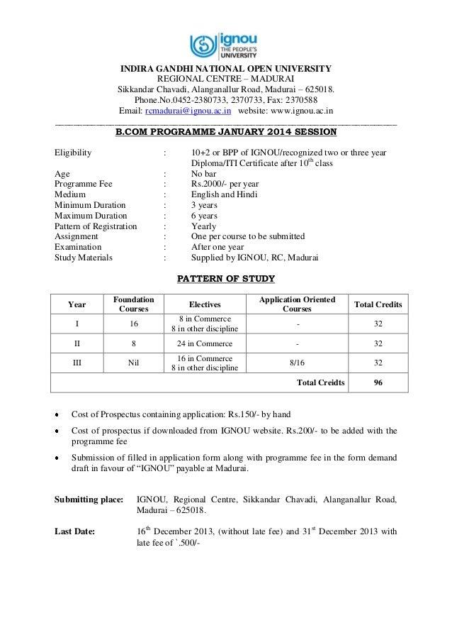 Ignou Mba Prospectus Pdf