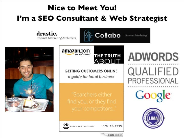 Nice to Meet You!I'm a SEO Consultant & Web Strategist              !