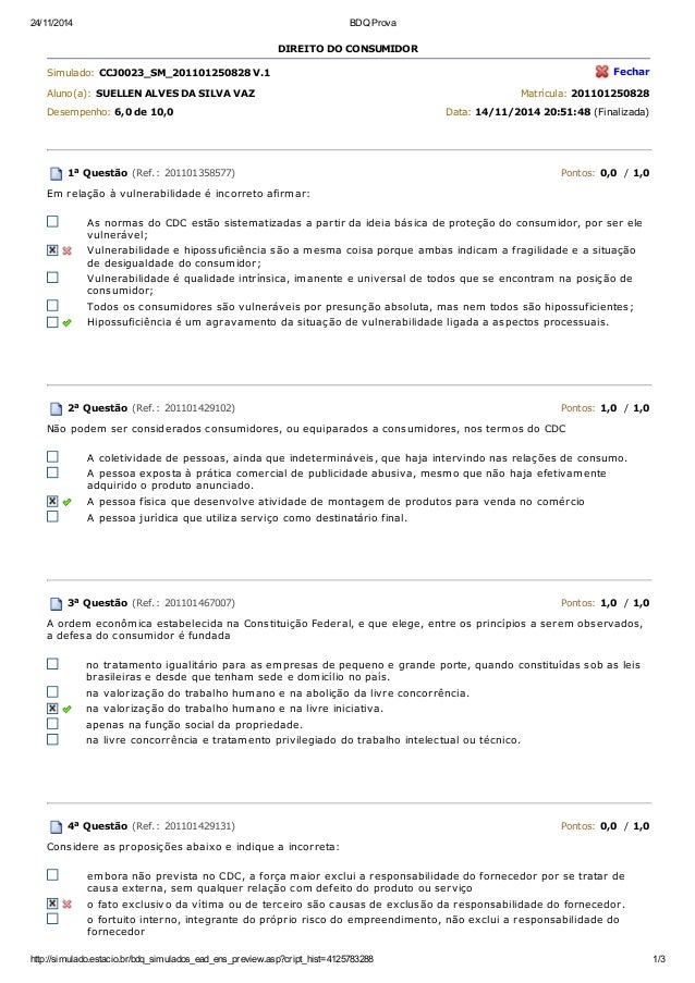 24/11/2014 BDQ Prova http://simulado.estacio.br/bdq_simulados_ead_ens_preview.asp?cript_hist=4125783288 1/3 DIREITO DO CON...