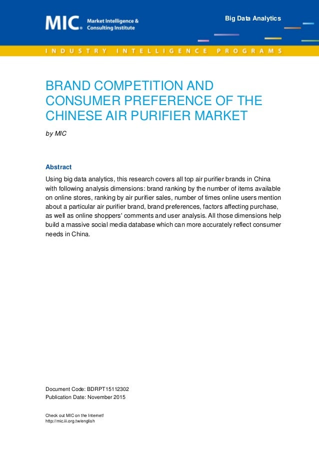 Brand Competition And Consumer Preference Of The Chinese