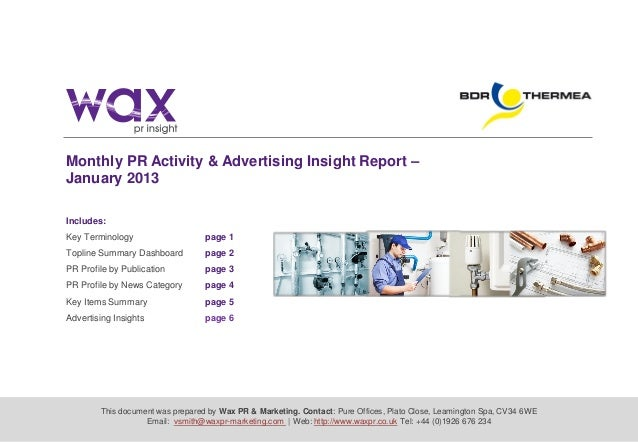 This document was prepared by Wax PR & Marketing. Contact: Pure Offices, Plato Close, Leamington Spa, CV34 6WE Email: vsmi...