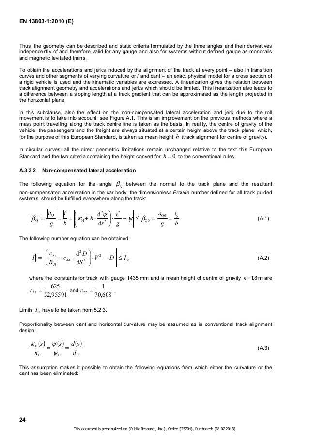 EN 13803-1:2010 (E)  QC ' = = = )  −, . ' = = (A.5)  ' (A.6)    = −  +  (A.8)  25  a  2  d   +   ! !    − =   +  ! !    1 ...