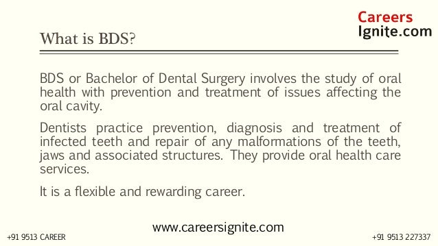 BDS - Bachelor of Dental Surgery Courses, Colleges, Eligibility Slide 2