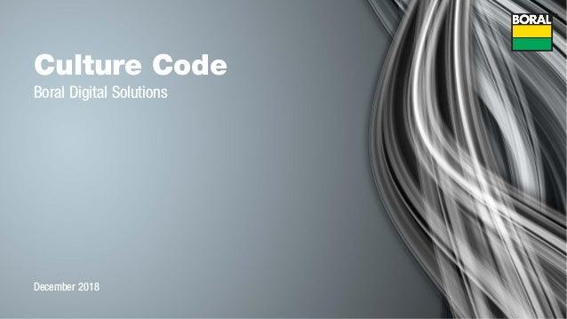 Culture Code Boral Digital Solutions December 2018