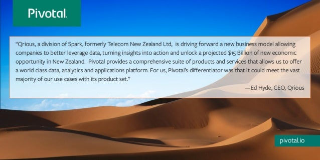 Customer Quote from Qrious on Pivotal Big Data Suite