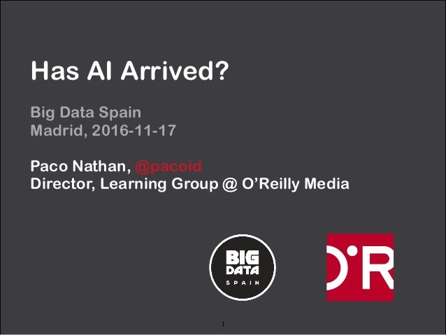 Has AI Arrived? Big Data Spain
