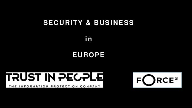 SECURITY & BUSINESS in EUROPE
