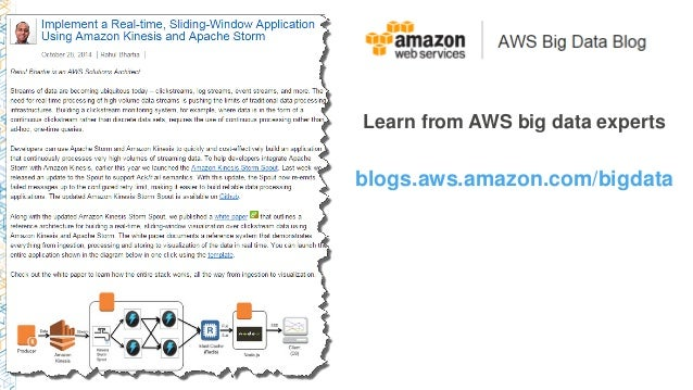 Learn from AWS big data experts blogs.aws.amazon.com/bigdata