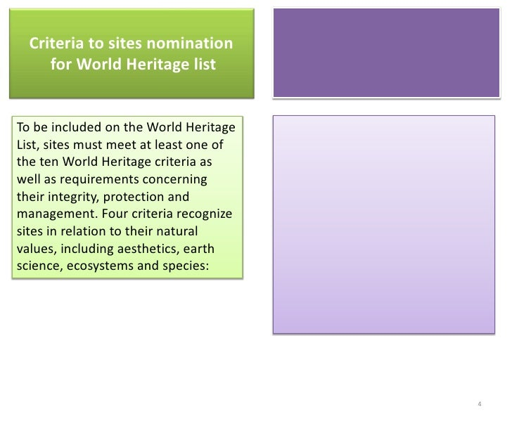 the management of world heritage sites The world heritage convention: an overview the convention is the bedrock document of world heritage sites to assist in the proper management of world.
