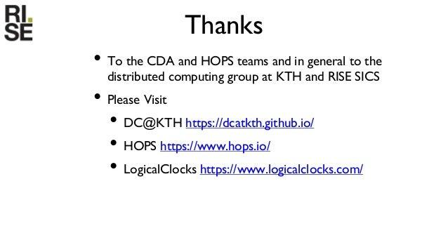 Big Data Analytics Platforms by KTH and RISE SICS