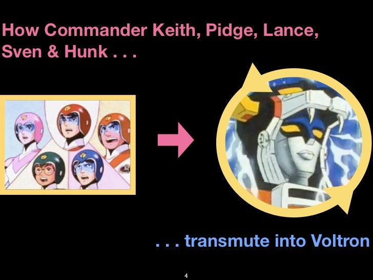 How Commander Keith, Pidge, Lance, Sven & Hunk . . .                     . . . transmute into Voltron                    4
