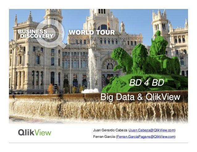 BD 4 BD Big Data & QlikView  Juan Gerardo Cabeza (Juan.Cabeza@QlikView.com) Ferran García (Ferran.GarciaPagans@QlikView.co...