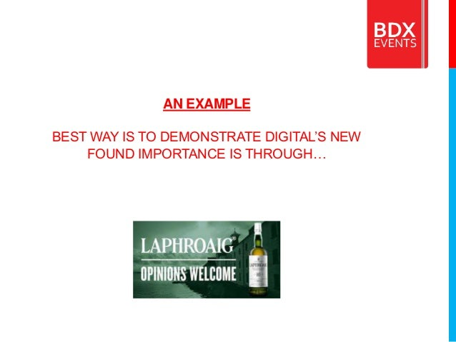 AN EXAMPLE BEST WAY IS TO DEMONSTRATE DIGITAL'S NEW FOUND IMPORTANCE IS THROUGH…
