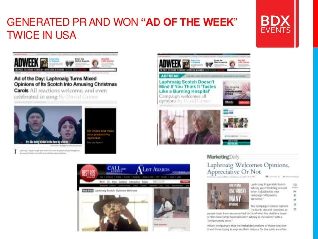 """GENERATED PR AND WON """"AD OF THE WEEK"""" TWICE IN USA"""