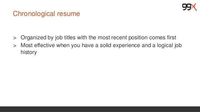 ... 17. Functional Resume U003e ...