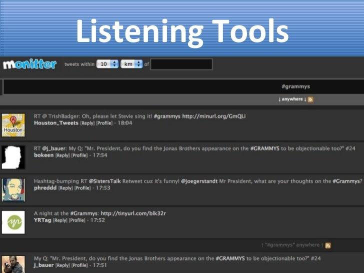 Listening Tools