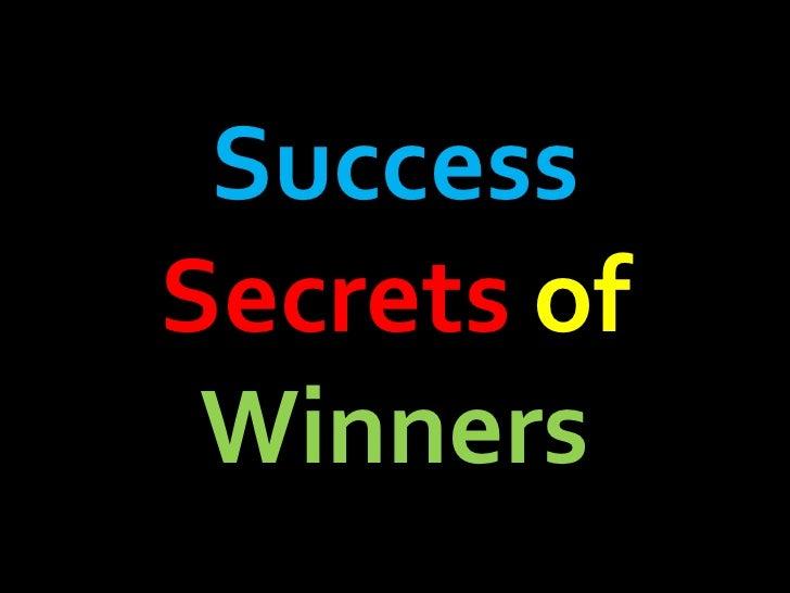Success  Secrets   of   Winners