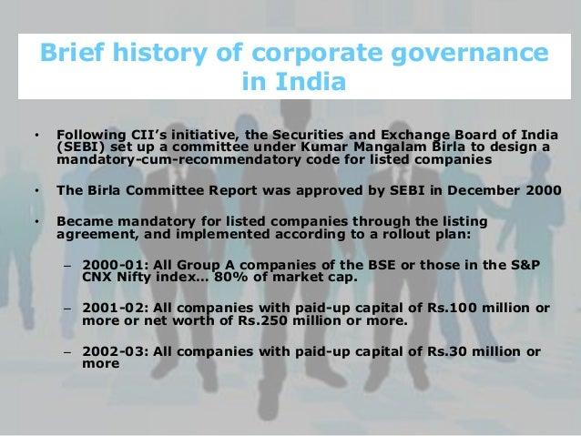 Pdf) corporate governance in india:recent developments in.