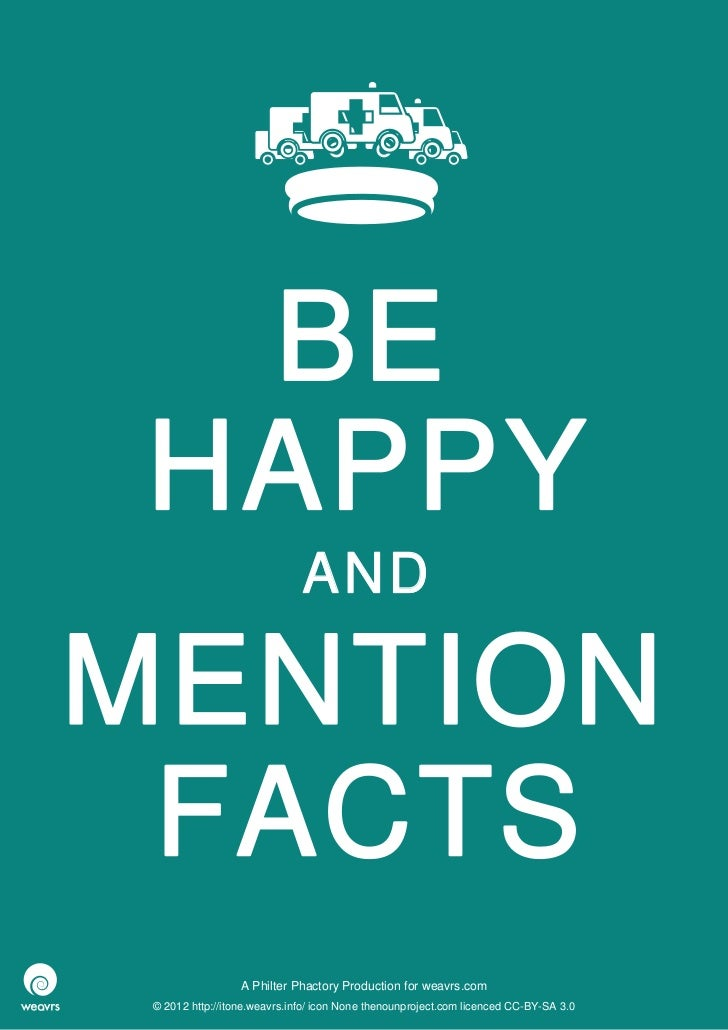 BEHAPPY                              ANDMENTION FACTS                  A Philter Phactory Production for weavrs.com © 2012...