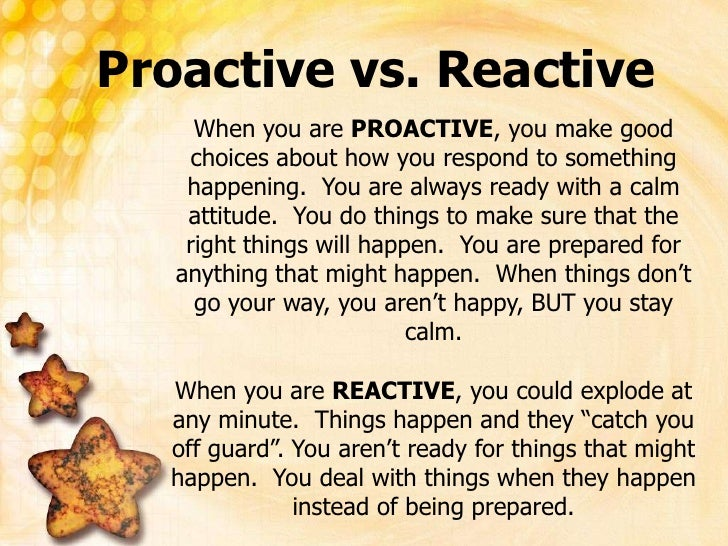 Be Proactive 1