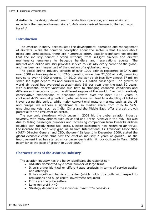 analysis and recommendations airline industry Monarch airline executive summary this report sought to do an analysis of the airline industry in the strategic analysis - monarch airline the recommendations.