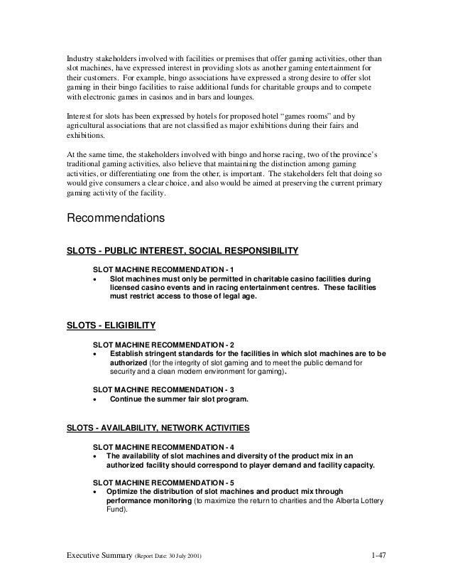 Gambling review report july 2001 condado plaza & casino