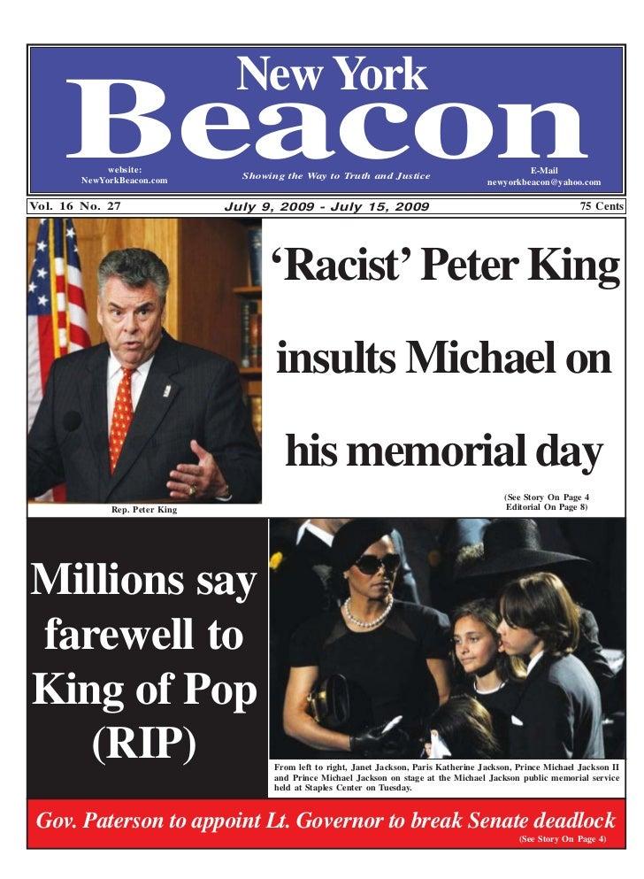 New York     Beacon  website:        NewYorkBeacon.comVol. 16 No. 27                                 Showing the Way to Tr...