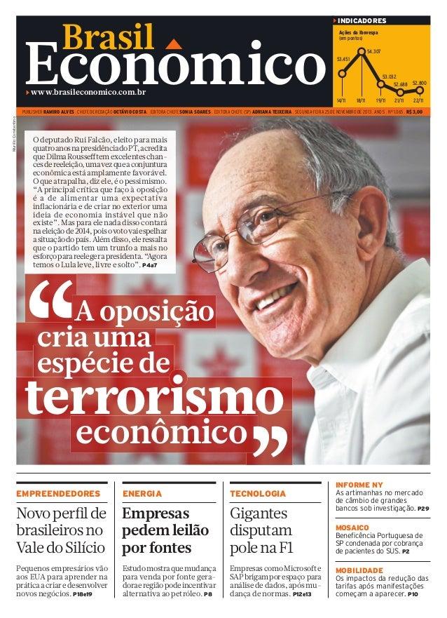INDICADORES  Brasil  Econom ico  Ações da Ibovespa (em pontos) 54.307 53.451 53.032 52.688 52.800  www.brasileconomico.com...
