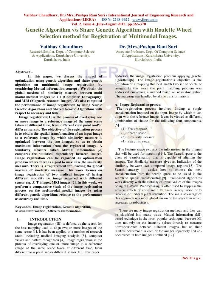 Vaibhav Chaudhary, Dr.(Mrs.)Pushpa Rani Suri / International Journal of Engineering Research and                         A...