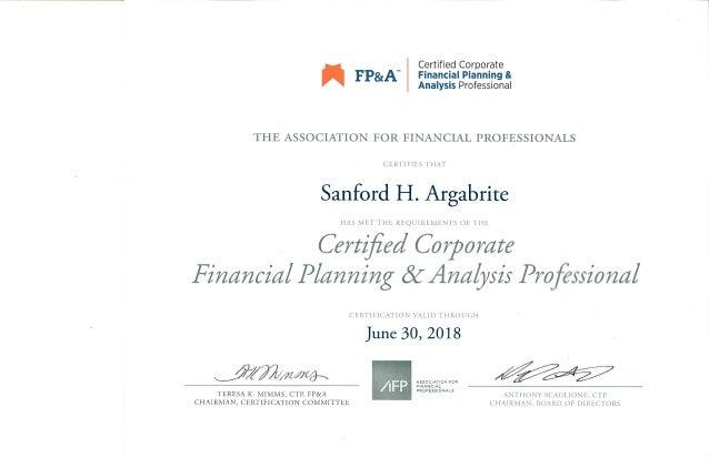 fp&a certificate