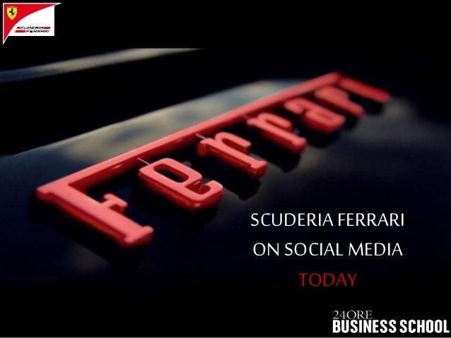 SCUDERIA FERRARI ON SOCIAL MEDIA TODAY