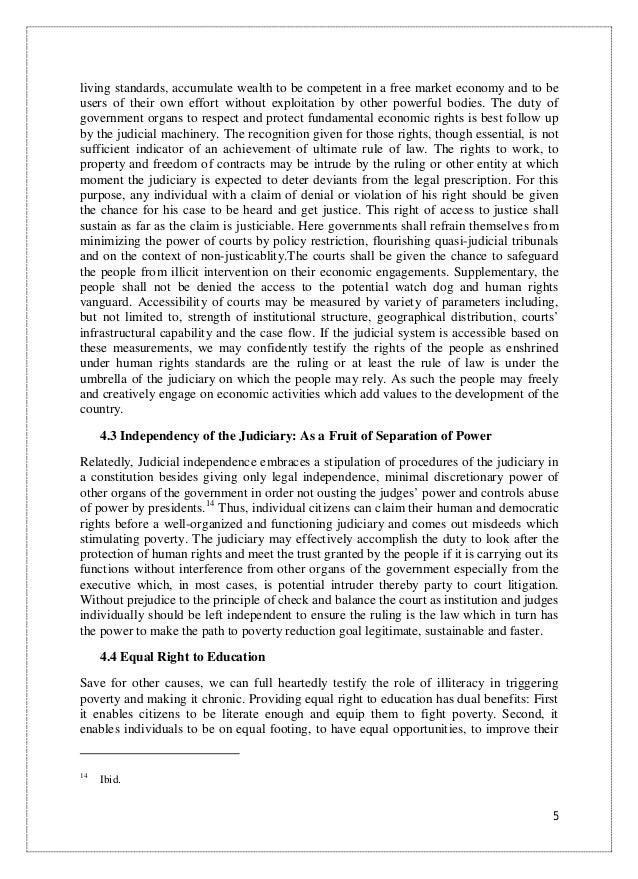Essay on the rule of law