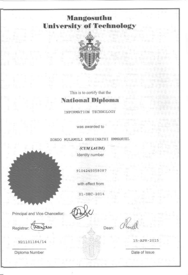National Diploma Information Technology