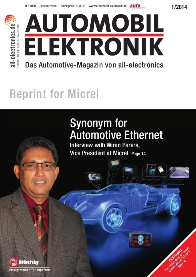 B 61060 · Februar 2014 · Einzelpreis 19,00 € · www.automobil-elektronik.de · Das Automotive-Magazin von all-electronics 1/...