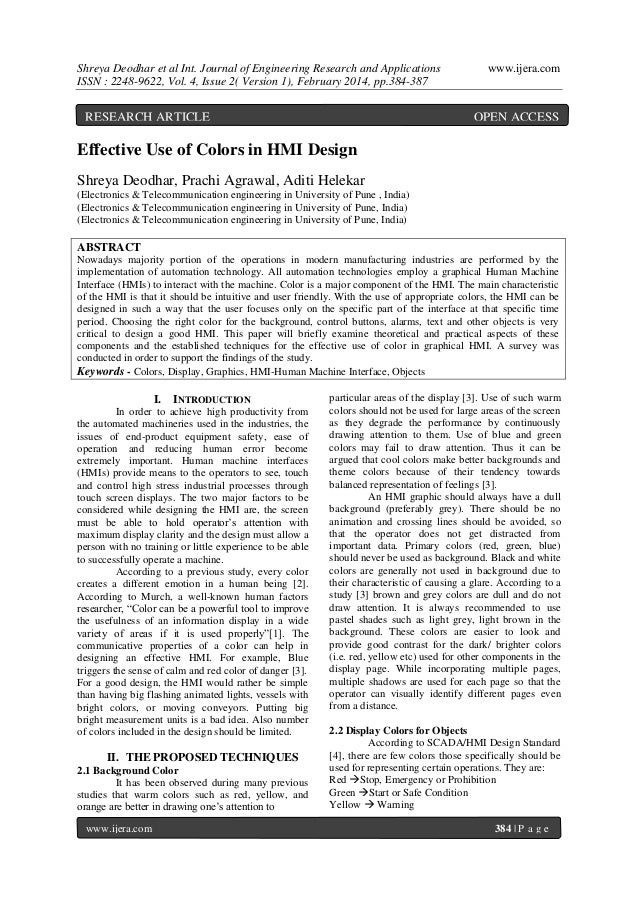 Shreya Deodhar et al Int. Journal of Engineering Research and Applications ISSN : 2248-9622, Vol. 4, Issue 2( Version 1), ...