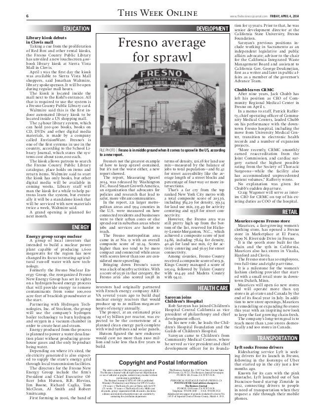 April 4 Business Journal