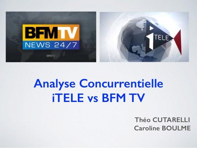 Analyse Concurrentielle iTELE vs BFM TV Théo CUTARELLI Caroline BOULME