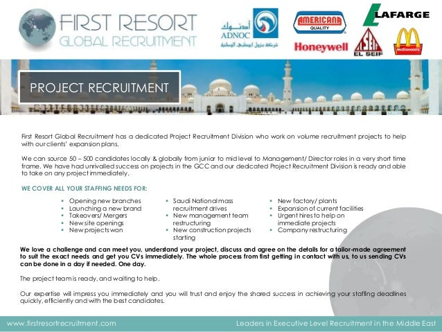 First Resort Global Recruitment - Company Profile - Linked