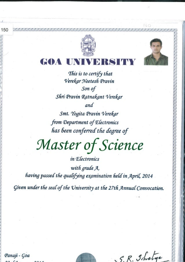 what is a degree certificate